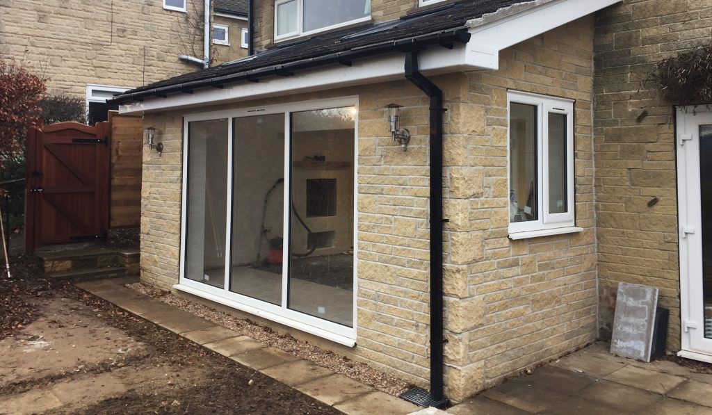 Sheffield small lean to extension